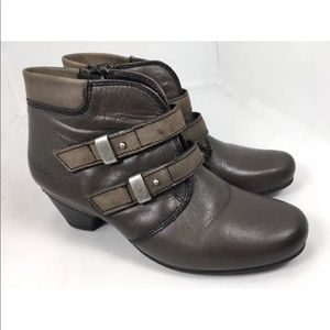 Taos alto leather ankle boots 36/5-5.5 brown gray